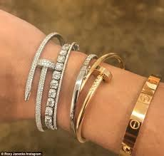 cartier bracelet images Roxy jacenko unveils new 66 000 cartier bracelet during trip in jpg