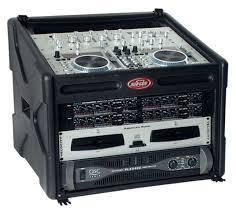 Audio Rack Case Skb 106 Dj Station 10x6 Rack Case W Cover Pssl