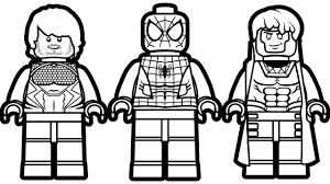 lego spiderman and lego quicksilver u0026 lego gambit coloring book