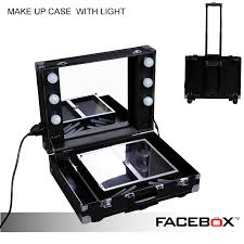Rolling Makeup Case With Lights Professional Makeup Cases With Lights Makeup Vidalondon