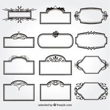 free vector ornamental frames collection 3073 my graphic hunt