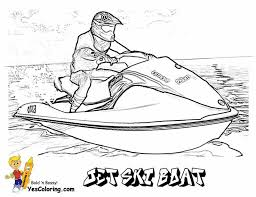 free coloring jet ski boat runabout yescoloring http www