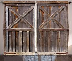Wood Barn Doors by Rustic Farmhouse Old Wooden Barn Doors Curtains With Country