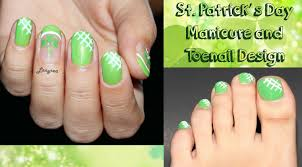 st patrick u0027s day nail and toenail designs youtube