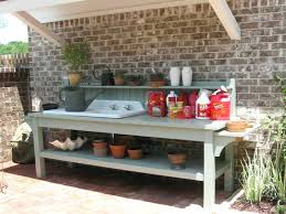 potting table with sink garden potting workbench gardening potting bench with sink potting