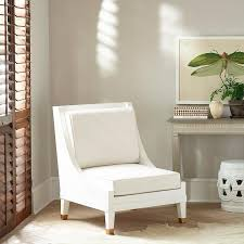White Accent Chair White Swoop Arm Accent Chair