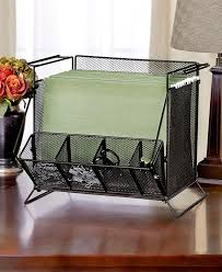 Office Desk Supply Black Mesh Desktop Hanging File Folder Organizer Sort Office Desk