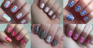 how to do six simple dot nail arts step by step diy tutorial