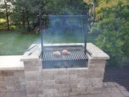the apricot argentine grill kit for wood or charcoal grilling