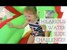 Hilarious Water Challenge Hilarious Water Slide Challenge Channel