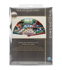 Canap茅 D Angle Palette Dimensions Gold Collection Counted Cross Stitch Kit Garden Fan