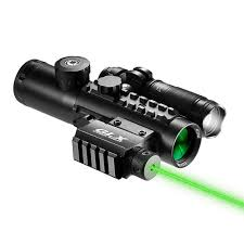 laser and light combo 4x30mm ir electro sight multi rail tactical scope green laser light