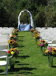 backyard wedding aisle ideas unusual pretty aisle decorations