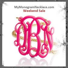My Monogram Necklace 96 Best Monogram Necklace Images On Pinterest Monograms