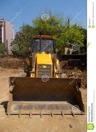 excavator loader with backhoe front view stock images image