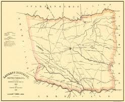 Columbia Sc Map Old County Map Laurens South Carolina Landowner 1825