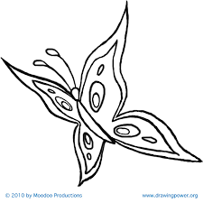 coloring page easy draw butterfly drawing step drawings coloring
