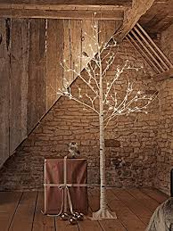 white tree with lights white led light up birch tree with warm white lights h240cm