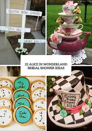 Alice And Wonderland Home Decor by 22 Fairy Alice In Wonderland Themed Bridal Shower Ideas