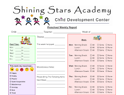 preschool report card template preschool daily report templates contemporary resume