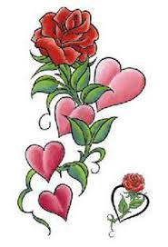 flowers and hearts tattoos collection 85
