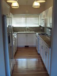 Narrow Kitchen Design Ideas Kitchen Narrow Kitchen Designs In White And Black Colors