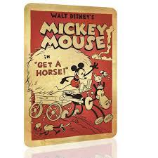 chiroladas retro stuff metal sign mickey mouse disney decor