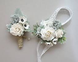 corsage and boutonniere for prom prom corsage etsy