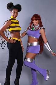 Starfire Costume Bumblebee And Starfire Cosplay By Professional Amazon And