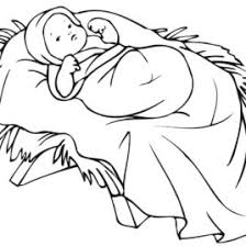 baby jesus in a manger coloring page free printable coloring