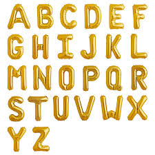 gold letter balloons 34 gold foil letter balloons a z helium highs