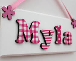 baby name plates girl name plaque etsy