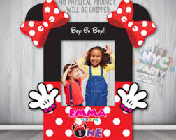 minnie mouse photo booth frame etsy
