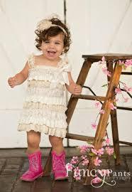 rustic flower dress lace flower dress baby dress