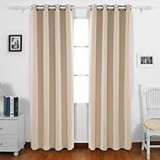 Amazon Thermal Drapes Amazon Com Deconovo Solid Grommet Curtains Blackout Panels