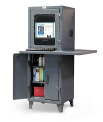 Compact Computer Cabinet Strong Hold Products Heavy Duty Computer Cabinet Workspace