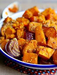 cuisiner patates douces courge butternut et patate douce aux épices et graines
