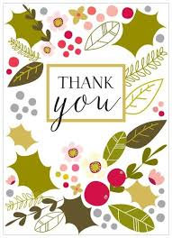 thank you cards pack of 8 christmas thank you cards karenza paperie