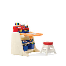 flip and doodle desk shop step2 flip and doodle easel desk with stool at lowes com