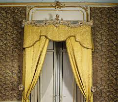 White House Gold Curtains by A Set Of Three Italian Giltwood And White Painted Curtain Rails