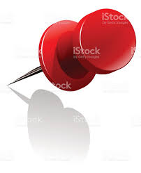 metal thumb tack in red color stock vector art 509225958 istock