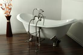 aqua 72 free standing cast iron slipper tub all in one