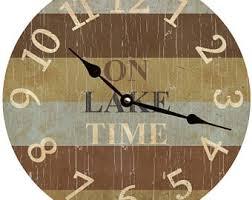 themed clock lake wall clock etsy