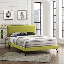 modterior bedroom beds camille king fabric platform bed