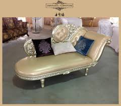 Leather Chaise Lounge Flower Design Elegant Princess Luxury Leather Chaise Lounge Sofa