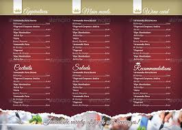 pages menu template trifold restaurant menu template by punedesign graphicriver