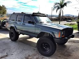 jeep cherokee lights 1984 2001 jeep cherokee xj 50 curved led light bar with brackets