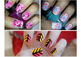 nail art easy nail art forers step by halloween stripe ideas