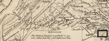 Map Of Virginia And North Carolina by Tuscaroras And Monacans Native Heritage Project