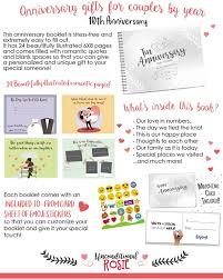 10 Year Anniversary Card Message Amazon Com 10th Anniversary Gifts For Couples By Year Ten Year